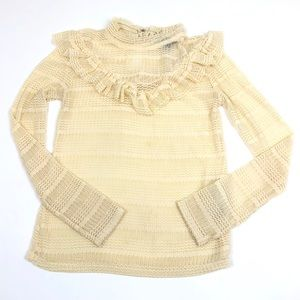 Topshop Tops - TopShop size 4 Buttercream Stretch Lace Top